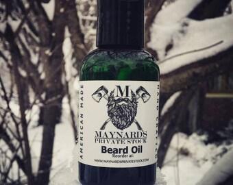 Beard Oil - Old Man Winter (Peppermint Scented Beard Oil) natural self care gift for bearded men, top selling item, top selling beard oil