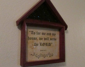Handcrafted Wood Frame w/scripture verse
