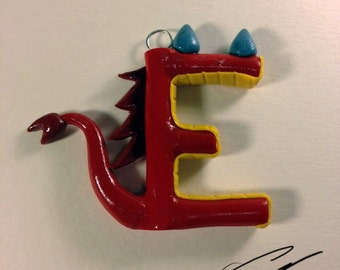 Unique Handmade Disney Alphabet Letter Ornament: Mushu