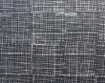 Charcoal grey fabric, Marks, dark grey fabric, Black and white fabric. Cotton fabric.