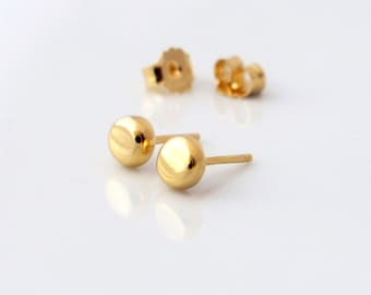 Tiny Stud Earrings - Gold - Circle Stud Earrings - Circle Earrings - Minimal Earrings - Gold Stud Earrings - Round Earrings - Tiny Earrings
