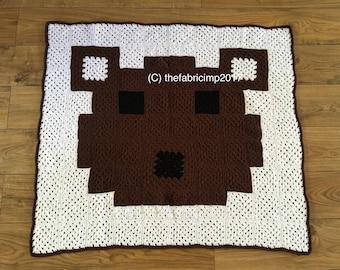 Teddy Bear Pattern Blanket