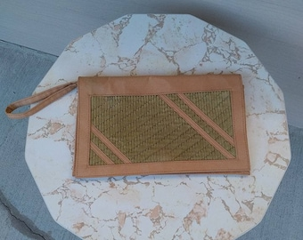 Olive and Brown Clutch from the 1970s