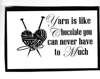Yarn is like Chocalate