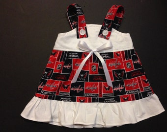 NHL Washington Capitals hockey Baby Infant Toddler Girls Dress  You Pick Size