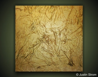 Weathered-------Original Abstract Painting by Justin Strom Large 24 x 24 Deep Gallery Canvas Original Modern Wall Art
