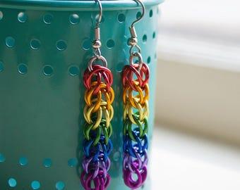 Lesbian Pride, Gay Pride Earrings, Queer Pride Jewelry, LGBT Jewellery, Rainbow Earrings, Gay Friend Gift, Gay Wedding Favor, LGBT Jewelry