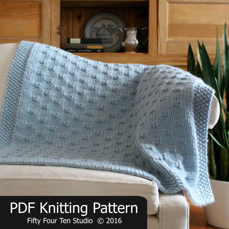Blanket KNITTING PATTERN / Belleview Blanket / Throw / Afghan / Knit ...
