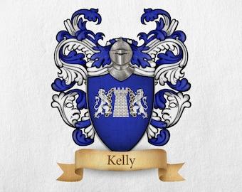 Kelly Family Crest - Print