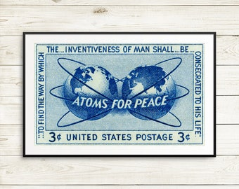 Atoms for Peace, peaceful uses, nuclear power, nuclear energy, nuclear posters, atomic energy, science posters, classroom posters, science