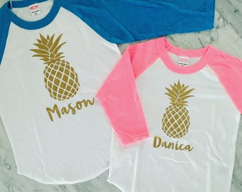 Pineapple Shirt, Boys Pineapple Shirt, Girls Pineapple Shirt