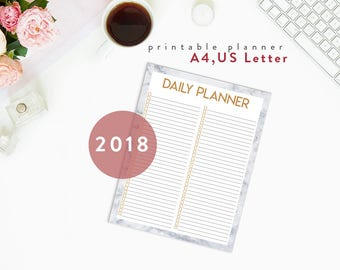 To Do Notepad | Daily Planner Notepad with Marble and Gold, To Do List Notepad, Instand download PDF