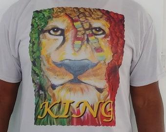 Rastafarri Vintage Tee Shirt King