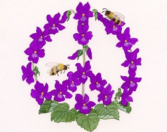 Violets Against Violence - Fine Art Print