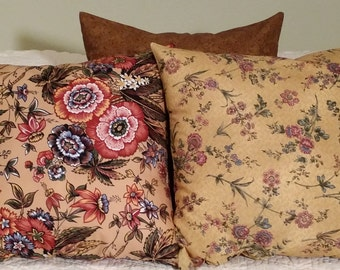 CLEARANCE. Pillow Cover, throw pillows, pillow case, vintage shabby chic, sofa cushion, boho hippie, Christmas gift.