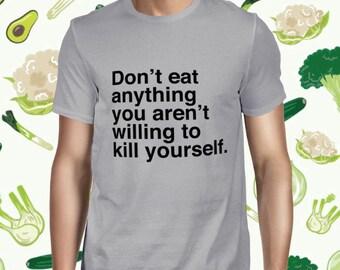 Vegan Statement T-shirt - Go Vegan Shirt for Men - Animal Welfare T Shirt - Plant-based Tee - Vegetarian Shirt - Animal Rights Tee Shirt