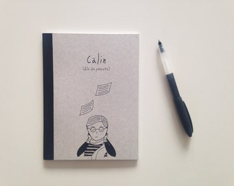 Calin (pages of a story) - recycled blank pages notebook