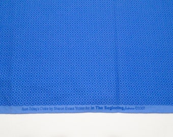 Royal Blue Cotton Quilting Fabric, In the Beginning Fabrics, Aunt Sukey's Choice Fabric, Quilting and Sewing Fabric, Quiltsy Destash