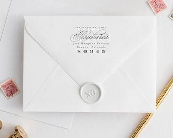 "Wedding Return Stamp for Wedding, Wedding Stamp Return Address Stamp Return Address, Future Mr and Mrs Address Stamp Wedding | 2.5 x 1.5"""