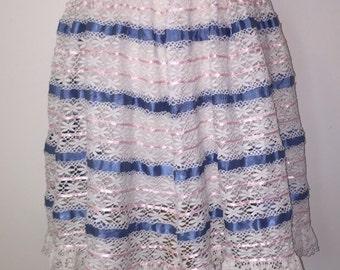 Lace and Ribbon Skirt