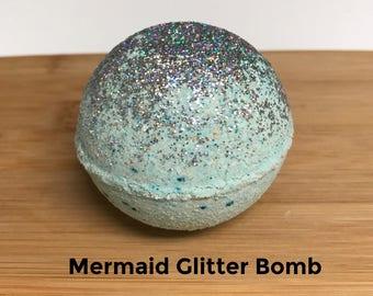 Mermaid Glitter Bath Bomb, Bath Bombs, Luxury Bath Bomb, Glitter Bath Bomb, Mermaid Bath Bomb, Bath Bomb Gift, Bath and Beauty Gift