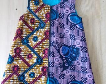 Dress baby 2 - Wax, dubbed cotton, detachable closure