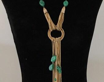 Oversized necklace etsy vintage 80s oversized gold necklace aloadofball Choice Image