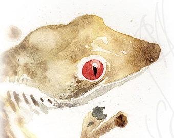 "Martinefa's Original watercolor and Ink  ""Gekko"""