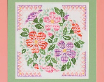 Desert Rose - Counted Cross Stitch Pattern - spring flowers cross stitch pattern - floral cross stitch pattern