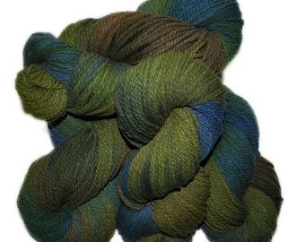 Hand dyed yarn - Columbia Wool yarn, Worsted weight, 170 yards - Byleist