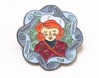MOLLY WEASLEY Winter Wonderland soft enamel lapel PIN / Harry Potter Magic Mother Hogwarts / BUNCEandBEAN & drawings by Nicole