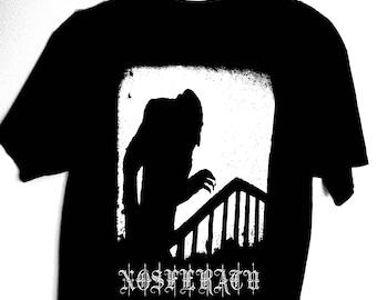 "NOSFERATU ""CREEPER"" Stairs Tee shirt T shirt T-Shirt handmade screenprint limited edition 1922 Max Schreck Murnau Vintage Horror Classic"