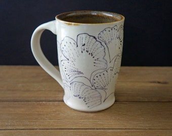 Ginkgo Pottery Coffee Mug - Ceramic Coffee Mug - Mother's Day Gift - Gift for Him - Gift for Her - House Warming Gift