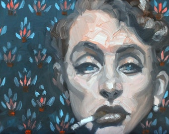 Portrait of Geist, oil on gallery stretched canvas 11x14 inches by KennEy Mencher