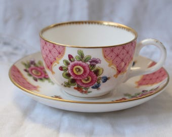 Royal Worcester Coffee Cup in the ' Worcester Flower' design