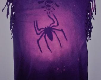 Purple spider tank top