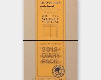 Traveler's Notebook 2018 Weekly Vertical(Regular Size)