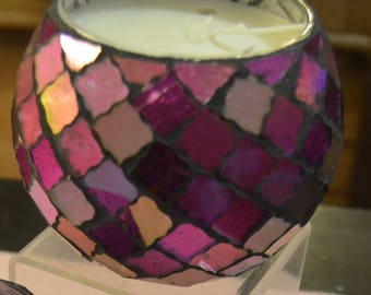 Natural soy candle in mosaic jar