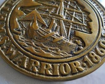 HMS Warrior 1860 the world's first iron battleship horse brass