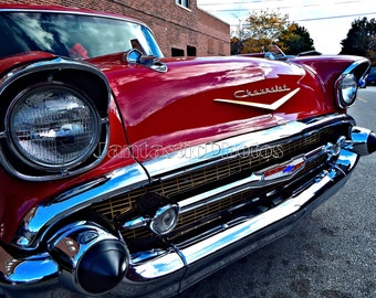 Chevrolet Bel Air photograph 1957 red maroon Chevy Instant download photo classic car vintage '50s automobile photography automotive art