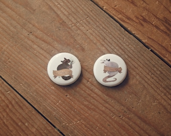 Buttons / Pins - Scavenger, Herbalist, buy the set