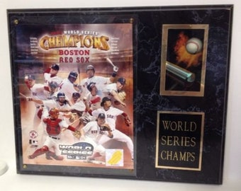 MLB Boston Red Sox World Series Champions Champs Baseball Photo Plaque