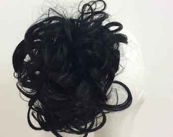 Black hairpiece scrunchie ( 1  )