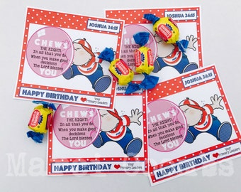INSTANT Download for PRIMARY Birthday Tags Labels Stickers LDS Choose the Right Gifts Mormon Sunbeams Valiant Classes