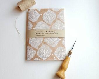 Botanical Notebook - Leaf Vein Design Journal - Pocket Notebook - Jotter - Natural Design - Diary