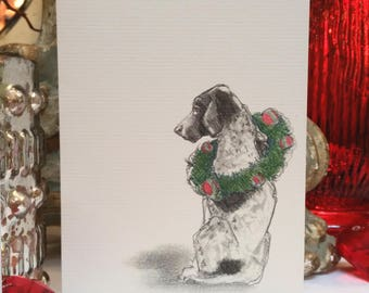 Boxed German Shorthaired Pointer Holiday Cards