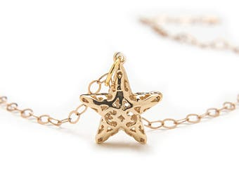 Gold Star Necklace - Gold Star Charm Necklace - Birthday Gift for Sister - Birthday Gift for Daughter - Unique Gift for Best Friend