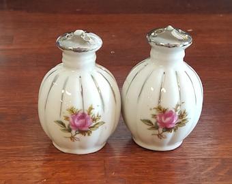 Porcelain Floral Salt Pepper