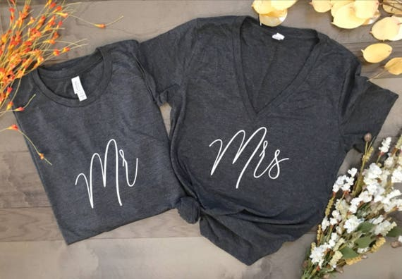Hubby and Wifey, honeymoon shirts, just married shirts, couples shirts with dates, wedding shirts, wedding present, mr and mrs