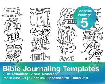 Bible Journaling Template Package 5
